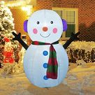 Amazon.com: GOOSH 4 FT Christmas Inflatable Outdoor Cute Snowman, Blow Up Yard Decoration Clearance with LED Lights Built-in for Holiday/Party/Xmas/Yard/Garden : Patio, Lawn & Garden
