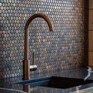 Copper penny tile splashback idea | | Lockwood Homes