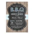 BBQ Couples Shower Invitation Baby Q Backyard Boy