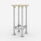 KLEMP Barhocker Industrial Bar Stühle Metall Aluminium Deko Gestell DIY Küche Theke Tresen, Größe:80x30x30 cm