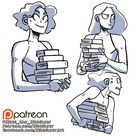 Holding books reference sheet  preview