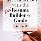 FREE 5-Step Resume Builder e-Guide
