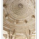 A2 Poster. Ornate interior dome decoration, Jain Temple,