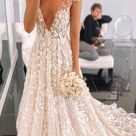 Cap Straps Light Champagne High Quality Lace Wedding Dress from Sancta Sophia