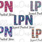 License practical nurse PNG nurse LPN sublimation bundle   Etsy