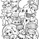 Awesome Kawaii Food Coloring Pages Luxury The Cartoon Sea Animals Are So Fun For... - Blogx.info