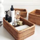 Hand Woven Wicker Basket by Coal & Cove