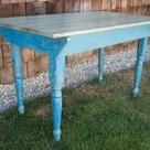 Blue Kitchen Tables