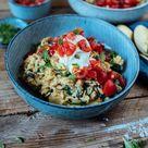 Mediterrane Reispfanne mit Burrata: Sommer auf dem Teller ⋆ Knusperstübchen