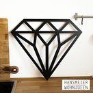 Hansmeier | Wanddeko aus Metall | 42 x 48 cm | Diamant | Deko Industrial