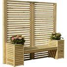 Sitzbank mit Blumenkasten Lampman aus Holz