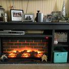 Building a Faux Fireplace.