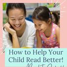 How to Help Your Child Read Better! Back to School Ideas for Kids