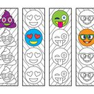 Emoji Bookmarks – PDF Zentangle Coloring Page
