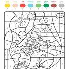 Ausmalbild Malen nach Zahlen: Mädchen und Katze ausmalen kostenlos ausdrucken