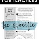 Resume Tips for Teachers