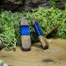 Water Fairy Earrings  Deep Blue Ocean Jewelry Earthy Druid   Etsy