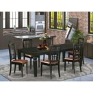 Beesley Butterfly Leaf Rubberwood Solid Wood Dining Set