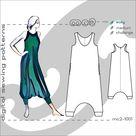 XS-L/ Racer-back Jumpsuit Harem-style/ Maternity-suitable/ Digital Sewing pdf-pattern for women >mc2-patterns< mc2-1001