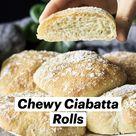 Chewy Ciabatta Rolls