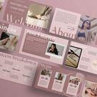 E Course / Webinar Template in Nude Pink