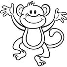 aapje kleurplaat dieren apen kleur tekening