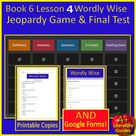 Book 6 Lesson 4 Bundle - 6th Grade Wordly Wise 3000 Game and Test - Google Ready