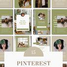 Canva templates for Pinterest Pins   Studio Ikigai   Etsy