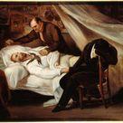 Ary Scheffer, 1824 - The Death of Géricault - fine art print - Canvas print / 120x100cm - 47x39