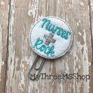 Nurses Rock Feltie Planner Clip, PaperClip Bookmark, Gift for Nurses, Planner Accessories Journaling