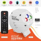 ROVE Aurora Sky Projector Laser Star Galaxy Projector with LED Nebula Lights