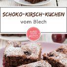 Einfacher saftiger Schoko-Kirsch-Kuchen vom Blech