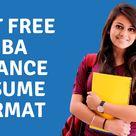 Best Free MBA Finance Resume Format