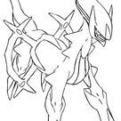 Arceus Pokemon Coloring Pages