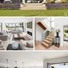 Modernes Haus Design im Bauhausstil mit Flachdach Architektur   Hausbau Ideen Luxus Villa modern
