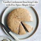 Peter Som's Vanilla Cardamom Snacking Cake with Five Spice Maple Glaze