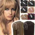 100 Russian Remy Human Hair Clip In Silk Base Crown Women Topper Hairpiece US