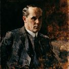Fritz Rojka, 1925 - Self-portrait - fine art print - Canvas print / 150x180cm - 59x71