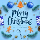 Merry Christmas And Happy New Year Calligraphic Greeting Holiday Postcard Stock Vector - Illustration of tree, calligraphy: 161403771