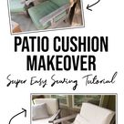 DIY Outdoor Cushion Covers with Zipper Tutorial (Easy & Cheap)