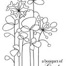 Woodware A6 Clear Cling STAMPS - JGS490 Long Tall Flowers for sale online   eBay