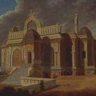 Francis Swain Ward, 1788 - Mausoleum with Stone Elephants - fine art print - Poster print (canvas paper) / 60x40cm - 24x16