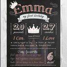 First Year Birthday