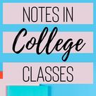 How to take notes in college classes!