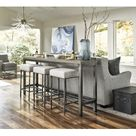 Universal Furniture 749803 Curated Mitchell Console w/ Stools in Greystone, Contemporary & Modern   Bellacor