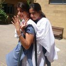 Pakistan, Multan school girls in salwar kameez uniform