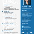 Resume/CV for Software Engineer Fresher Template - Word | PSD | InDesign | Apple Pages | Illustrator | Publisher