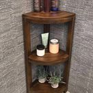 Teak wood corner shelf on Mercari