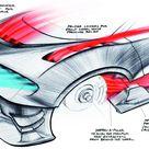 2015 Bugatti Vision Gran Turismo Concept    Design Sketch