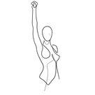 women's empowerment, single line design